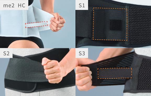 補助ベルトは簡単に装着できます。