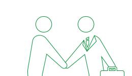 握手を交わすピクトグラム